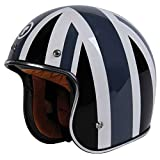 union jack helmet - Torc T50 Open Face Helmet (X-Large, Union Jack (Grey))