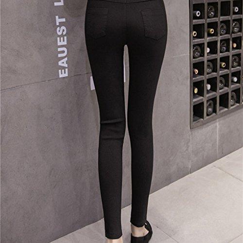 Haute Fish noir Ripped Femmes Net Crayon Hole Pants Babysbreath17 Taille Skinny Denim Jeans Big Sx5ZaOwX