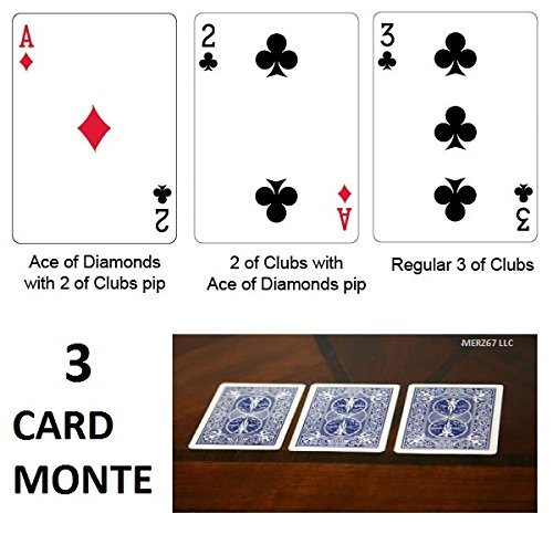 Bicycle Blue Back 3 Card Monte Magic Trick