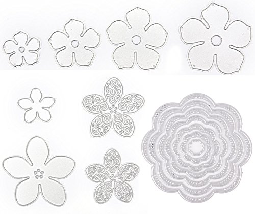 15 Pieces Flower Die Cuts for Card Making, Buytra Metal Cutting Dies Stencil Template for Scrapbooking, Photo Album Paper DIY Crafts ()