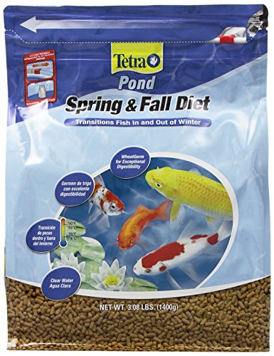 TetraPond Spring & Fall Diet Floating Pond Sticks, 3.08-Pound (Best Temperature For Tetra Fish)
