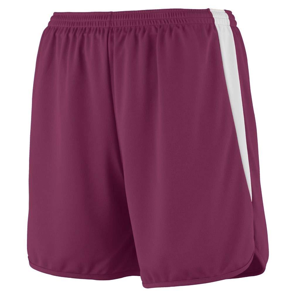 Augusta Sportswear Boys' RAPIDPACE Track Short M Maroon/White by Augusta Sportswear