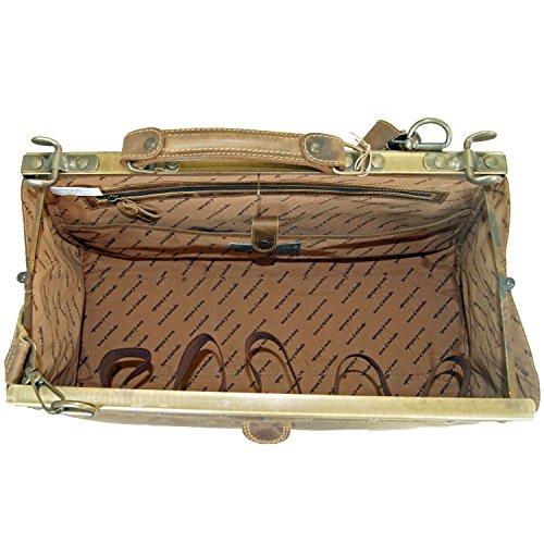 """BARONE di MALTZAHN - Maneggevole borsa da medico GALAHAD con tracolla in cuoio """"grassland"""""""