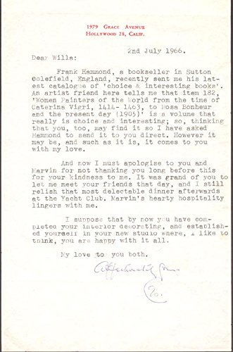 Leo G. Carroll – Typed Letter Signed 07/02/1966