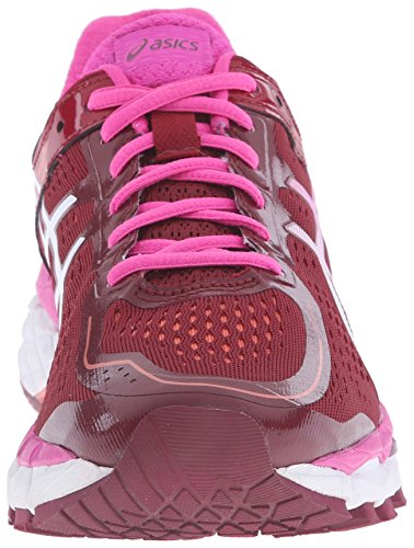 Asics Womens Gel-kayano 22 Scarpa Da Corsa Profondo Rosso Rubino / Bianco / Rosa