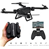 OKPOW RC Drone Foldable Selfie Drones FPV Wifi RC Quadcopter 2.4GHz 6-Axis Gyro Remote Control Drone with 720P HD Camera Drone