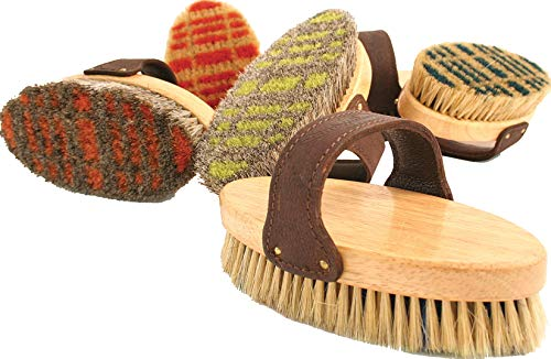 Legends Horsehair Body Brush for Horse, Color: Assorted Plaid , Count: 12 by Desert Equestrian (Image #1)