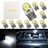 tent for ford escape - ToAUTO 10 X T10 W5W Car LED Light Bulbs Interior Door Light - COB Silica Gel Lamp Xenon White