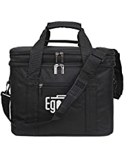 EGOGO Large Insulated Lunch Bag Cool Tote Bag Lunch Kit Box for Men, Women E524-1 (Brown)