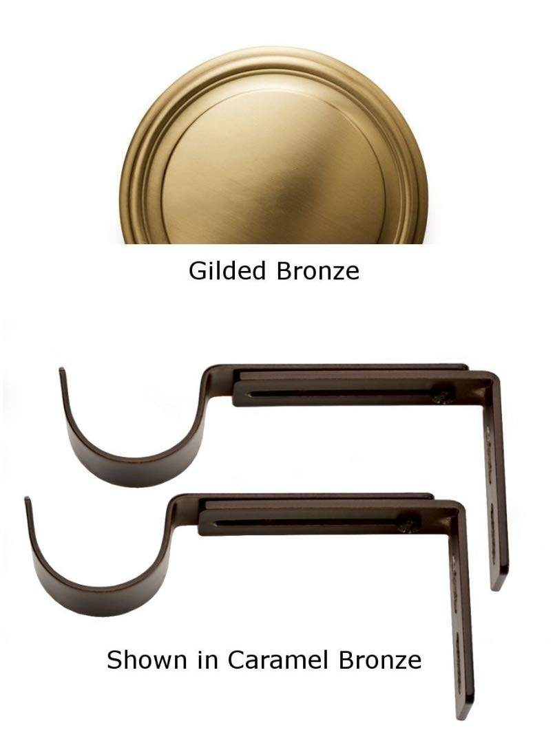 Designer Metals Curtain and Drapery Pole Brackets (Gilded bronze)