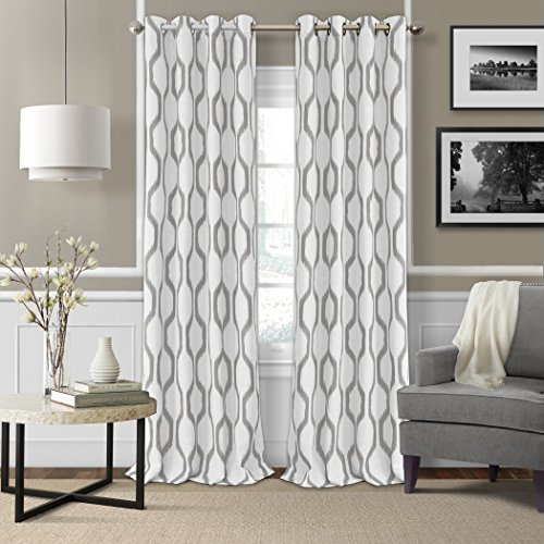Elrene Home Fashions Room Darkening Grommet Linen Single Panel Window Curtain Drape, 52