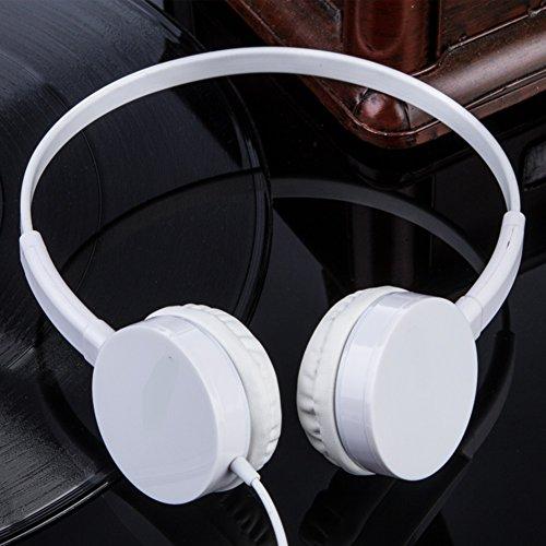 Mobile Computer headsets Bass Music Headphones Wearing a Headset-A