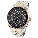 Stuhrling Original Men's 214B.332241 Aquadiver Heracles Artemis Genteel Swiss Quartz Date Multi Function Stainless Steel Bracelet Watch