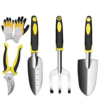 Gardening Tool Set 8 Pieces Garden Hand Tools Gifts for Gardener With Case