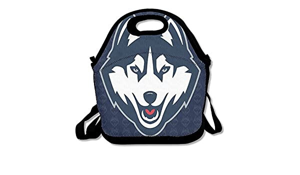 f6ab55e01eef Amazon.com  Connecticut UConn Huskies Logo Lunch Tote Bag  Kitchen   Dining