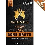 #1: Mushroom Chicken Bone Broth - Collagen & Gelatin Rich. Organic Bonebroth w Lion's Mane & 10g Protein. Paleo Snack, Keto, Low-FODMAP, Gluten Free. Gut & Digestive Friendly Nutrition from Ancient Source