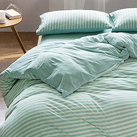 4 Sets Of Cotton Simple Striped Bed Sheets Quilt Knitted Cotton Cotton Bed  Linen Bedding