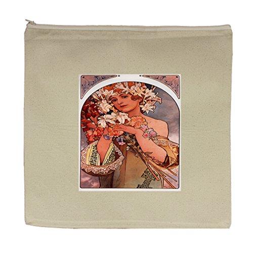 Fruit (Alphonse Mucha) Canvas Zipper Tote Bag Makeup Bag