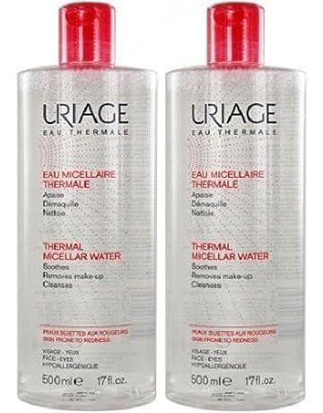 Uriage térmica Micellar Agua para pieles sensibles, 500 ml, pack de 2