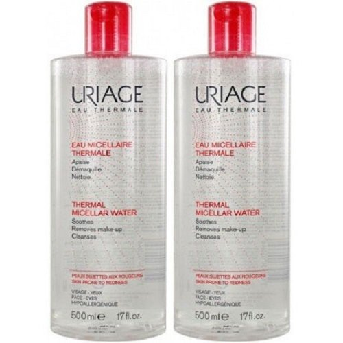 Uriage acqua Micellare termale per pelli sensibili, 500ml, confezione da 2 URIURIU92004049