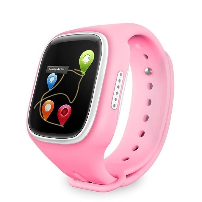 GBD niños reloj inteligente teléfono para niños con GPS Tracker Fitness tarjeta SIM podómetro anti-