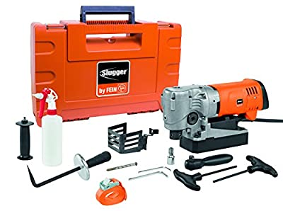 "Fein SLUGGER JMC USA 90 Magnetic Base Drill, 1-3/8"" Capacity, 6.66"" Height, 1100W, 5 Amp, 130-520 rpm, Plastic and Metal"