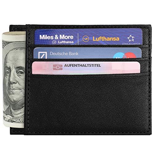 Slim Wallet Vetoo Front Pocket Wallet Minimalist Leather Wallet RFID Blocking Wallet Thin Id Card Badge Holder For Men Small Size