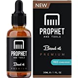 PREMIUM Unscented Beard Oil and Comb Kit for Thicker Facial Hair Grooming - The All-In-One Conditioner and Shampoo-like Softener, Shine and Fuller Beards & Mustache Growth Formula - NUTS-FREE & VEGAN For Men! Prophet and Tools