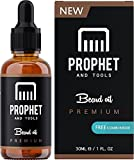Facial Hair Styles Unique - PREMIUM Unscented Beard Oil and Comb Kit for Thicker Facial Hair Grooming - The All-In-One Conditioner and Shampoo-like Softener, Shine and Fuller Beards & Mustache Growth - NUTS-FREE & VEGAN! Prophet