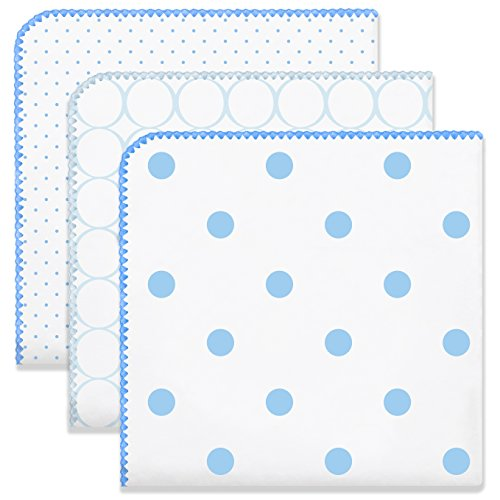 SwaddleDesigns Ultimate Swaddle Blankets, Set of 3, Mod Circles and Dots, ()