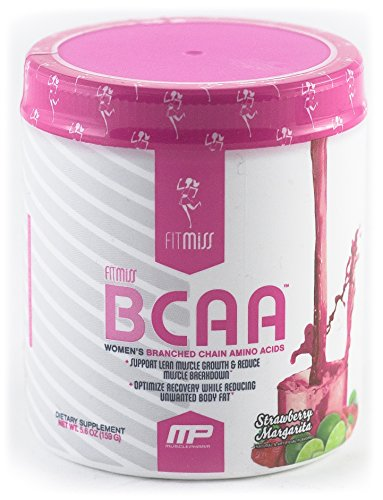 Women Post (FitMiss Women's BCAA Powder, Post Workout Recovery Drink for Muscle Recovery and Muscle Toning Strawberry Margarita, 30 Servings)