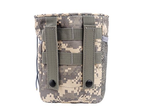 EGOODBEST Nylon Waterproof Molle Military Recycle Collection Small Pouch Carrying Bag with Drawstring