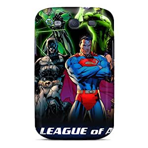First-class Case Cover For Galaxy S3 Dual Protection Cover Justice League