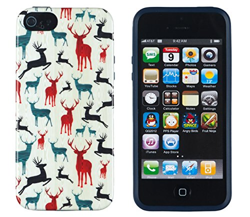 iPhone 4S Case, DandyCase PERFECT PATTERN *No Chip/No Peel* Flexible Slim Case Cover for Apple iPhone 4S / 4 - LIFETIME WARRANTY [Colorful Deer]