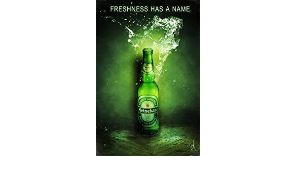 Heineken Beer Freshness Has a Name metal poster cartel ...