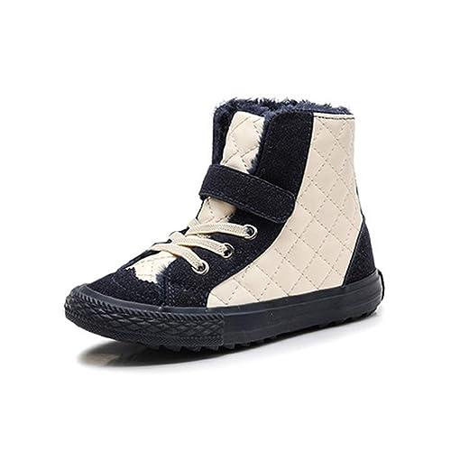 Botas para niños Unisex Moda PU Piel Zapatillas de Piel Forrado Botines Botas de Invierno Antideslizantes Calientes Zapatos Casuales: Amazon.es: Zapatos y ...