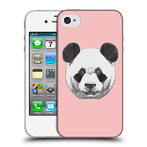 GoGoMobile Coque de Protection TPU Silicone Case pour // Q05300610 Panda Bébé rose // Apple iPhone 4 4S 4G