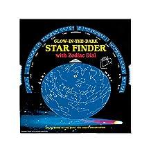 Buscador de estrellas que brilla en la oscuridad con dial de zodiaco