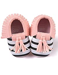 Voberry® Infant Toddlers Baby Boys Girls Soft Soled Tassel Crib Shoes PU Moccasins