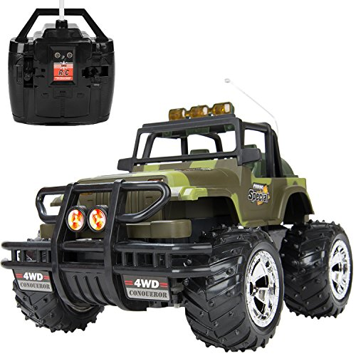 RC Remote Control OFF ROAD JEEP Wrangler Full Function Car [1:16 Scale] w/ (Go Forward & Backward, Turn Left & Right)