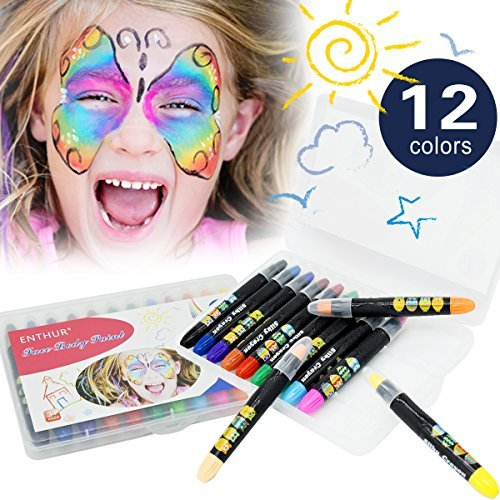 Face Paint Crayon 12 Color Face Painting Kits