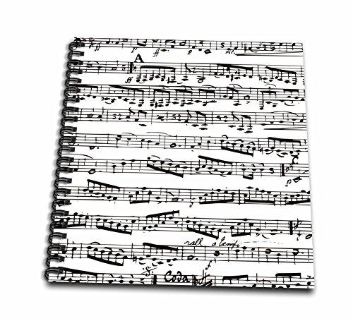 3dRose db_112825_1 Musical Notes-Vintage Sheet Music-blac...