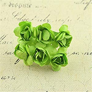 Big-Deal_12pcs Sugar Accessories Rhododendron Paper Flower Wedding Decoration Cute Rhododendron DIY Hand Material Garland for Wedding - (Color:0) 52