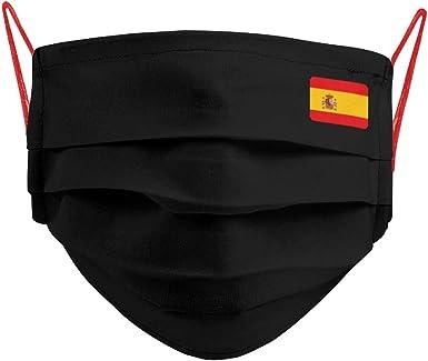 Cencibel Smart Casual Mascarilla Bandera España Pequeña Fondo Negro: Amazon.es: Ropa y accesorios