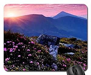 Pink sunset Mouse Pad, Mousepad (Sunsets Mouse Pad, Watercolor style) by runtopwell