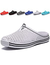 MCICI Unisex Garden Clogs Shoes Slippers Sandals Men's Water Shoes Summer Walking Beach Breathable Quick Drying Non-Slip Floor Bath Slippers Women House Shoes Indoor/Outdoor Shoes