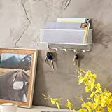 MyGift Wall-Mounted Metal Mesh Mail Holder Basket