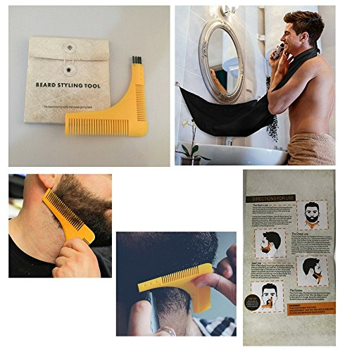 Beard Grooming Kit with Beard Comb and Beard Apron (Beard Comb and Apron)