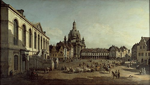 Canaletto Giclee Canvas Print Paintings Poster Reproduction(View of the Neumarkt in Dresden from the - Las Fashion Vegas Island