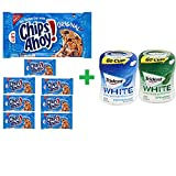 Nabisco Chips Ahoy! Real Chocolate Chip Original Cookies,13 OZ (8 PACK)+ Trident Go Cup Spearmint 1/60 Count + Trident Go Cup Peppermint 1/60 Count(BUNDLE)